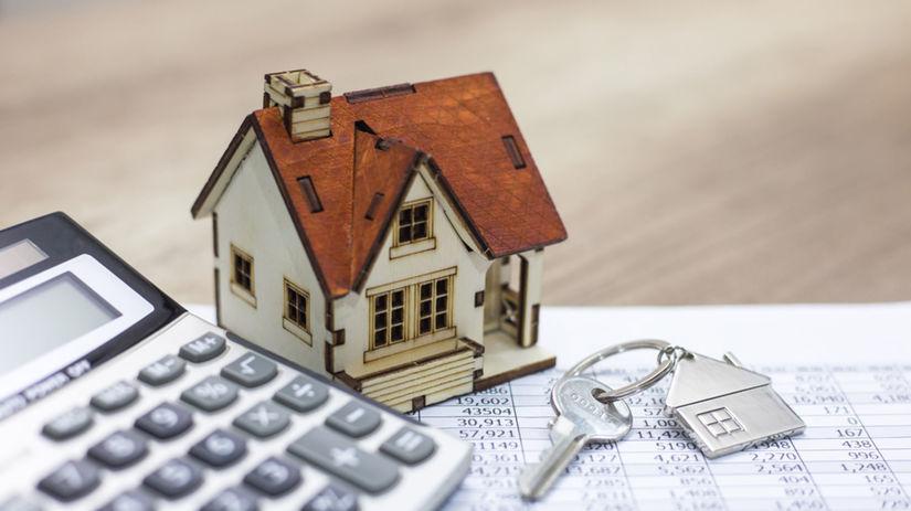 rodinný dom, kalkulačka, kľúče, predaj, prenájom