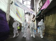 severná kórea koronavírus dezinfekcia