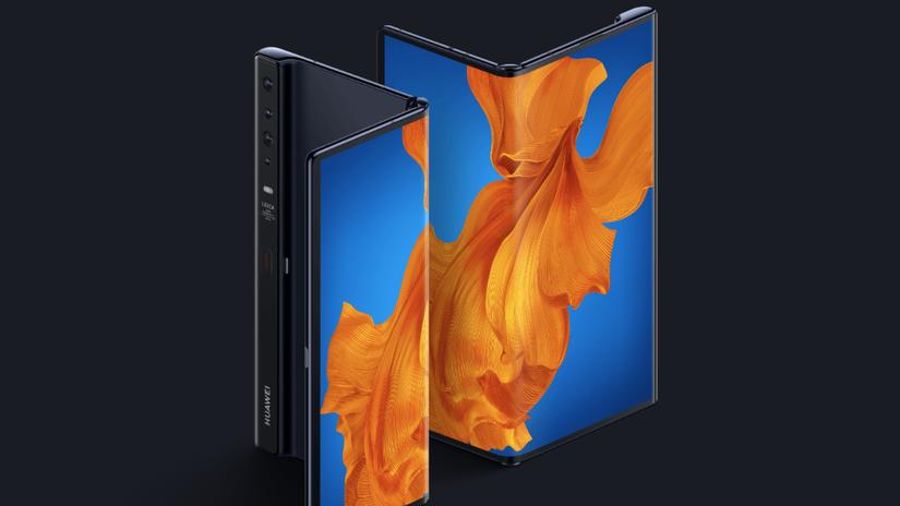Huawei Mate Xs, ohybný mobil, ohybný displej, OLED