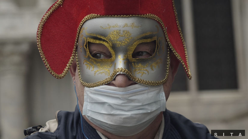 maska koronavírus taliansko