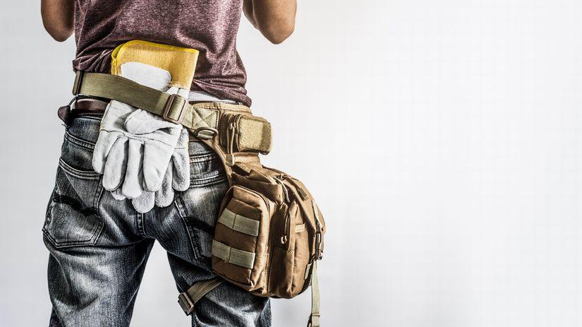 živnostník, práca, výbava, rukavice, kapsa