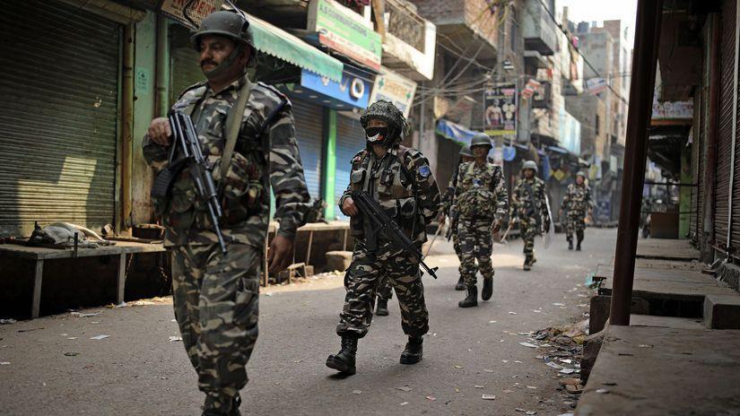 India / Naí Dillí / Vojaci / Vojak / Armáda /