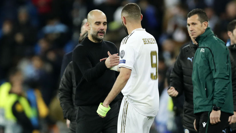 Pep Guardiola, Karim Benzema