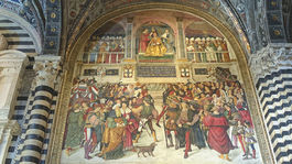 Siena, Taliansko, freska
