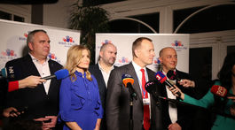 Volebná noc v centrále strany Sme rodina volby kollár