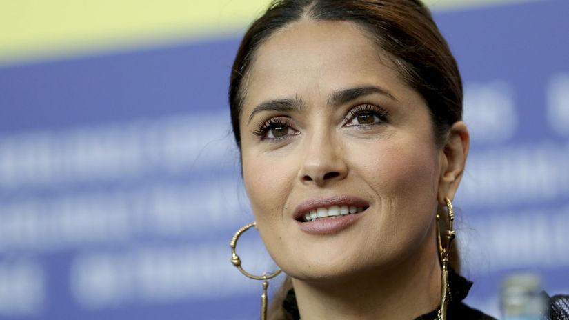 Herečka Salma Hayek na nedávnom filmovom...