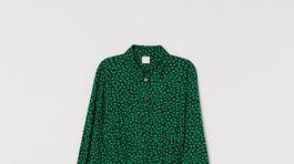 Dámske košeľové šaty s jemným vzorom H&M. Predávajú sa za 29,99 eura.