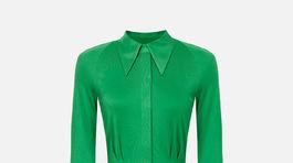 Dámske košeľové šaty s opaskom Elisabetta Franchi. Predávajú sa za 522 eur.