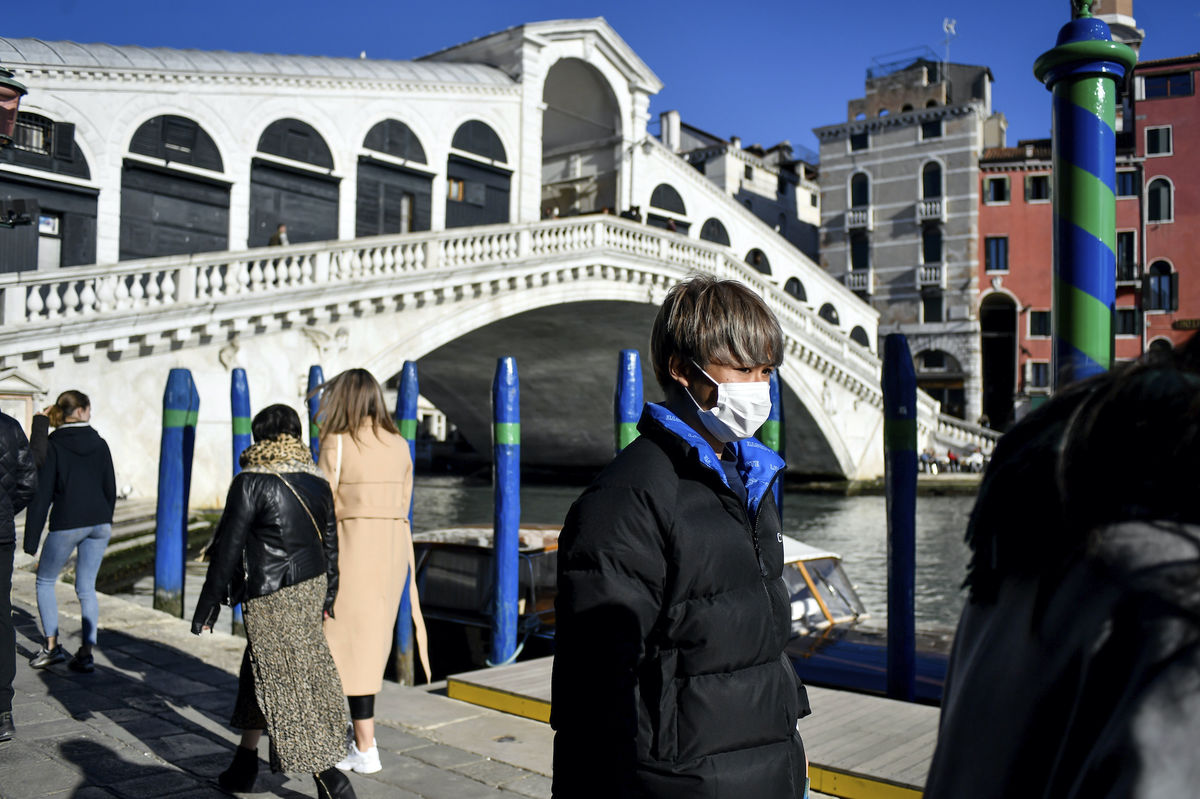 Most Rialto, Benátky, koronavírus