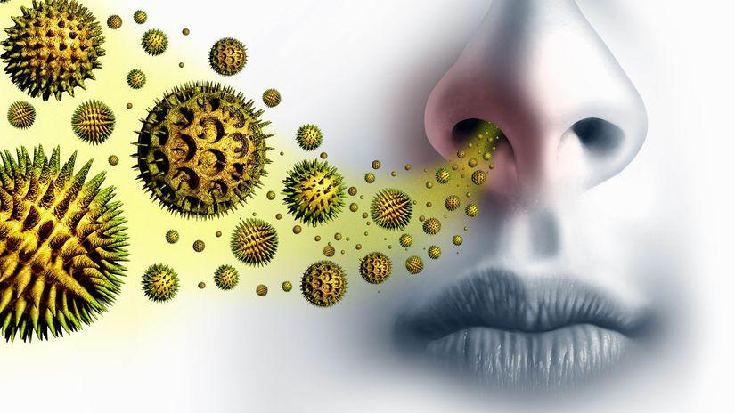 pele, baktérie, vírusy, dýchanie