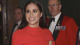 Britain Vojvodkyňa Meghan vyzerala neodolateľne v kreácii Safiyaa a s kabelkou Manolo Blahnik.
