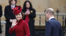 Princ William a vojvodkyňa Kate prichádzajú na slávnostnú bohoslužbu Commonwealth Day.
