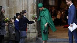 Vojvodkyňa Meghan v zelenej kreácii od Emilie Wicksteadovej vyzerala úchvatne.