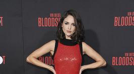 Herečka Eiza Gonzalez na filmovej premiére novinky Bloodshot.