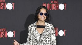Herečka Michelle Rodriguez na premiére filmu Bloodshot v Los Angeles.