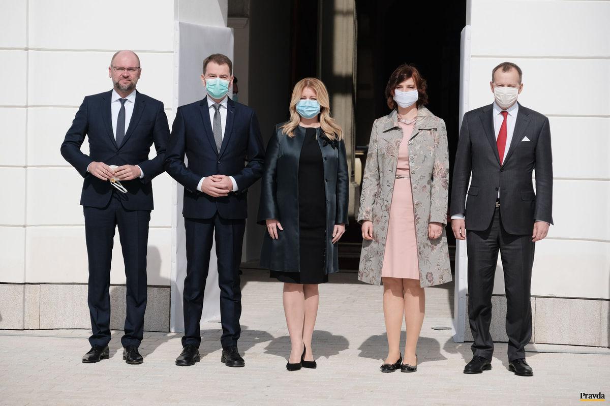čaputová nová vláda prezidentský palác matovič sulík remišová kollár