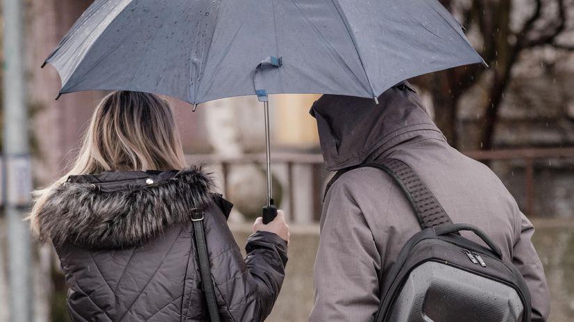 počasie / dáždnik / dážď /