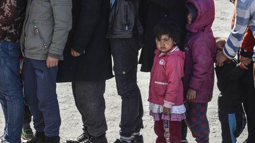 utečenci, ostrov Lesbos, Grécko