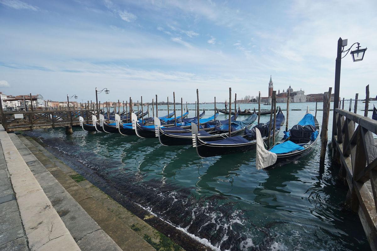 Benátky, Taliansko, gondoly