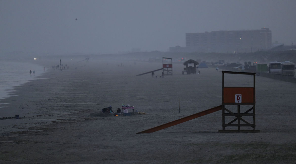 pláž, Texas, vírus,