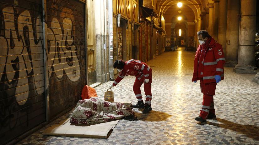 Taliansko, Rím, korona, bezdomovec