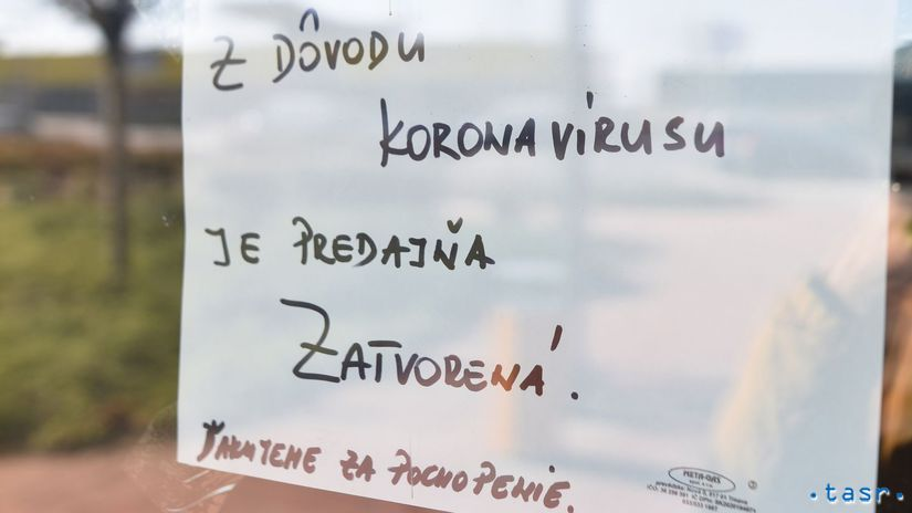 obchod koronavírus zatvorenie