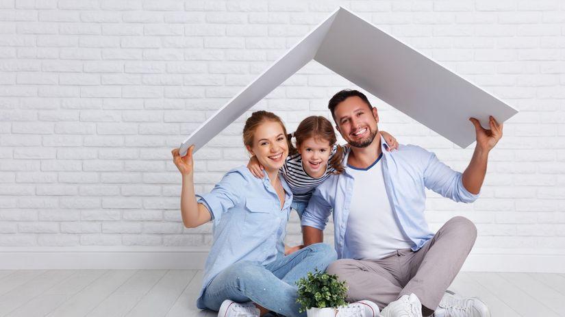 rodina, dom, strecha