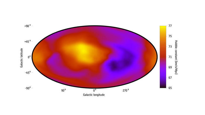 Cosmic expansion measured across the sky article