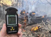 Ukrajina Černobyľ zóna požiar lesný
