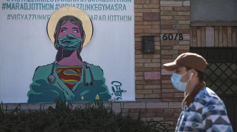 Maďarsko Koronavírus graffity