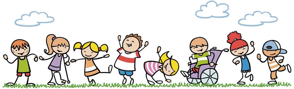 kresba, deti, invalidný vozík, sadra, radosť