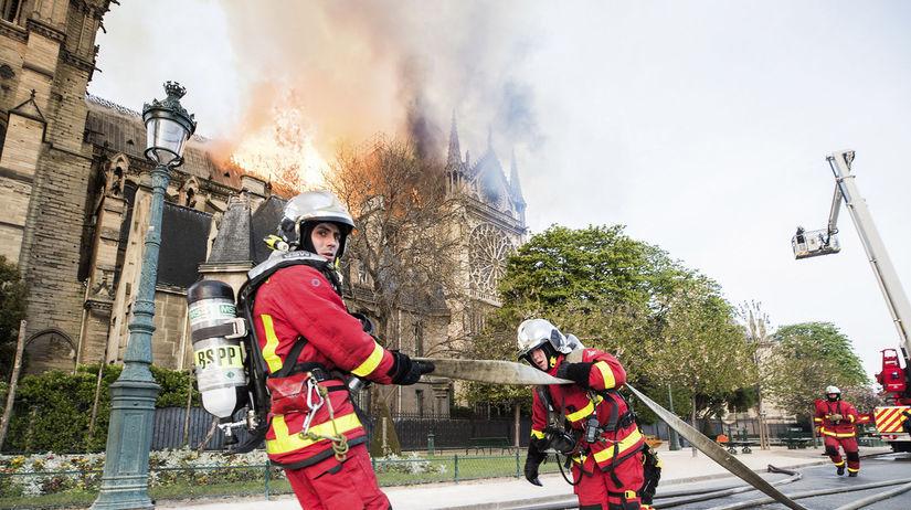 Notre Dame, Paríž, požiar, hasiči