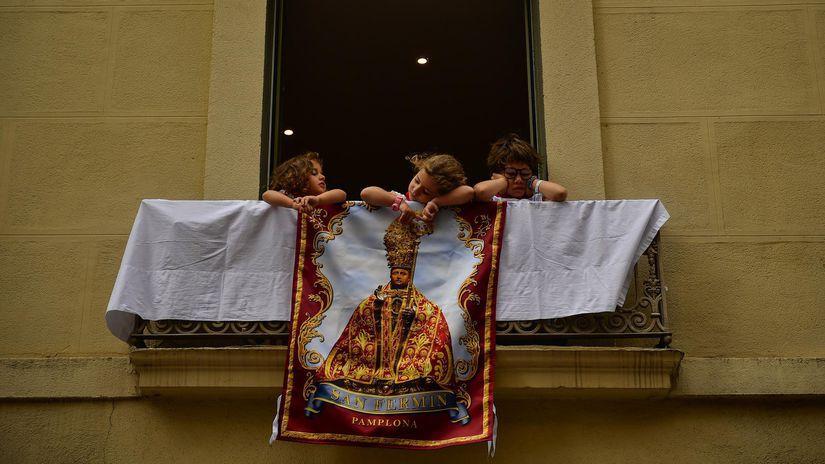 Španielsko, deti, balkón