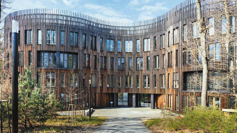 Postupim, drevená budova, drevo, ekológia