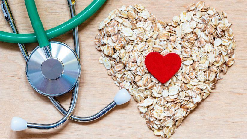 cholesterol, srdce, stetoskop, zdravá výžíva,...