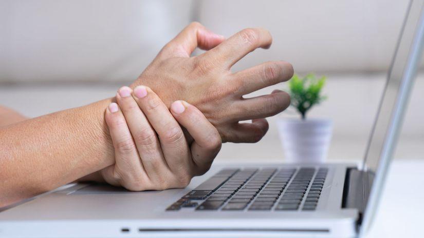 ruka, zápästie, práca s počítačom, karpálny tunel