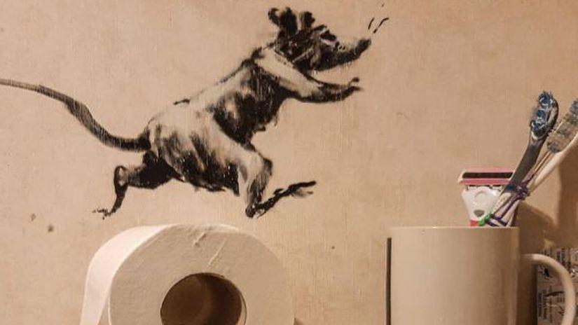 Banksy - krysa - instagram