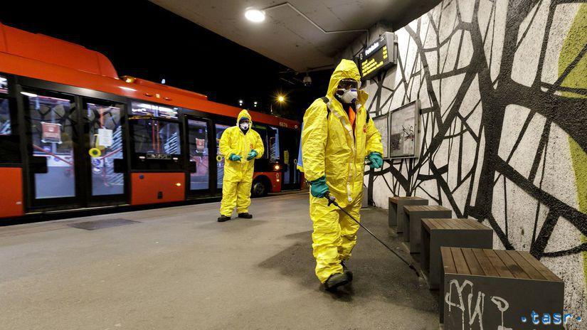 Bratislava koronavírus  MHD dezinfekcia