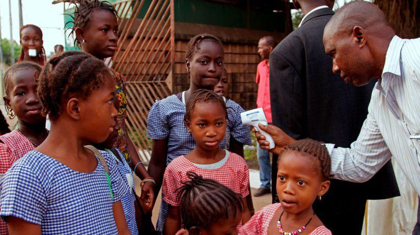 meranie teploty, ebola, deti, Afrika