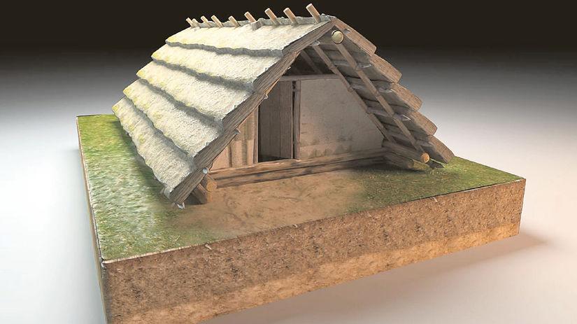 Kelti, dom, rekonštrukcia, chyža