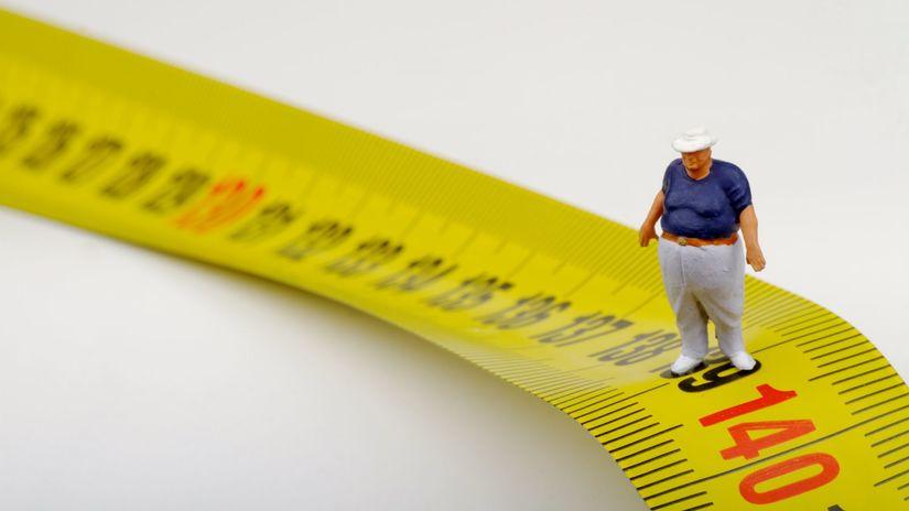 meter, obezita, nadváha, figúrka