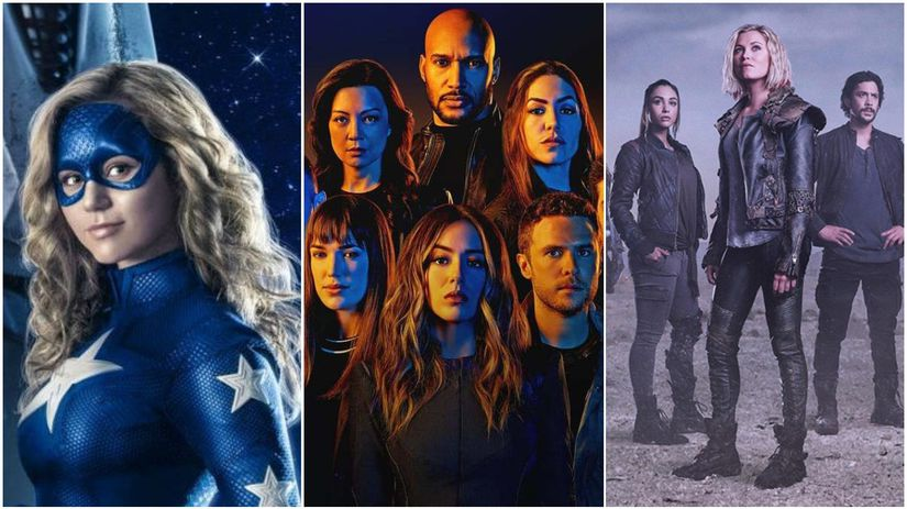 stargirl, agents of shield, the 100,