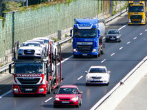 nakladne auta, kamiony, dialnica, doprava