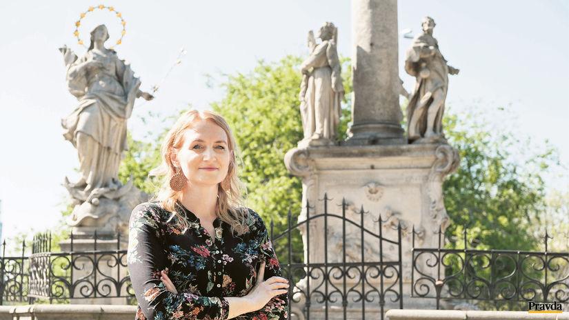 historička Diana Duchoňová, Morový stĺp