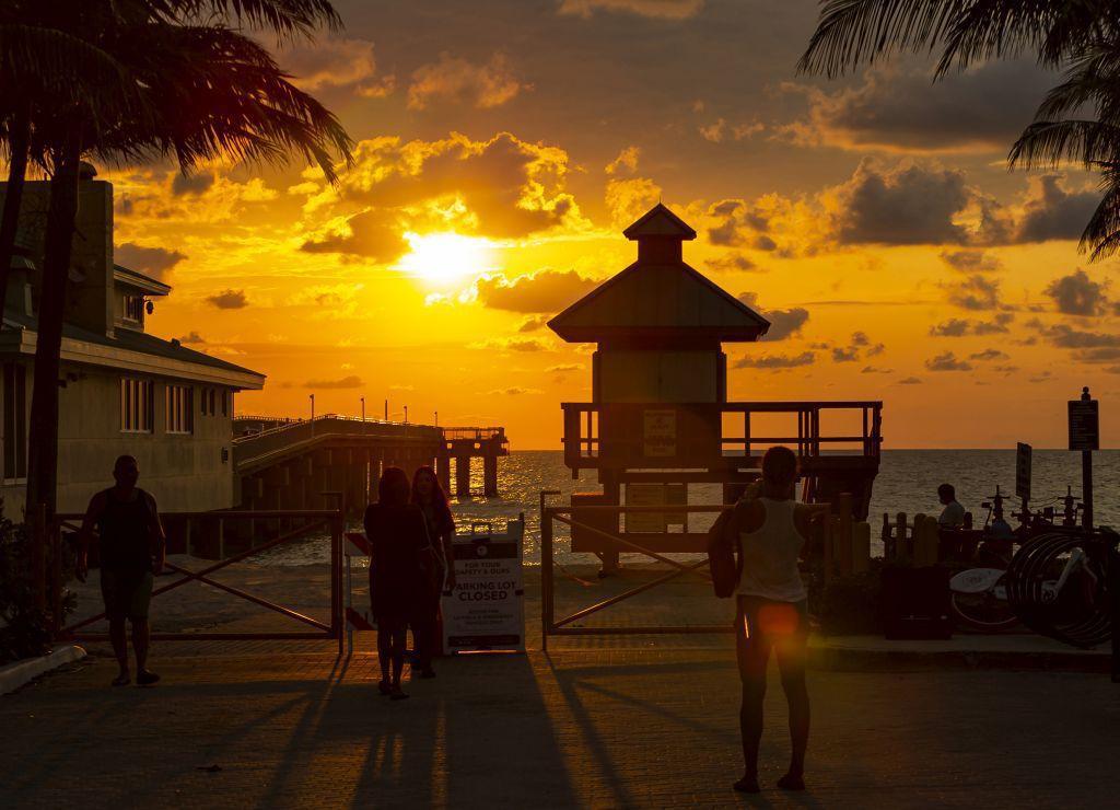 Florida, pláž, slnko,