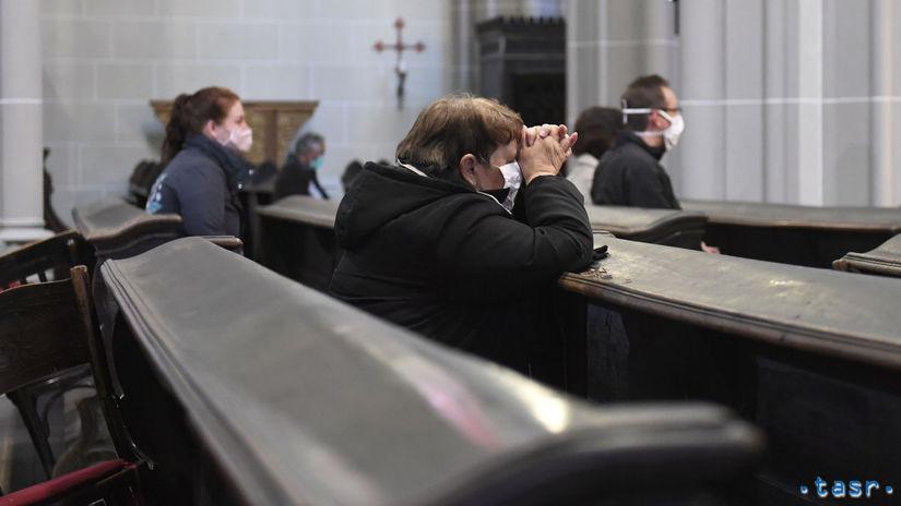 kostol omša Koronavírus