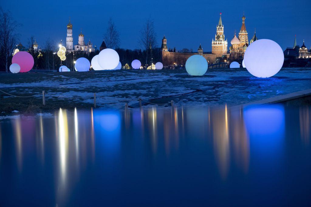 Rusko, Kremeľ, Moskva, balóny
