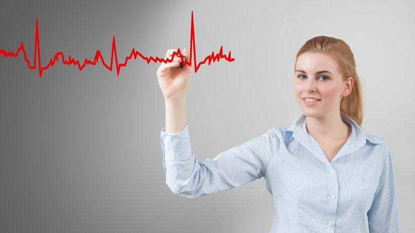 tep srdca, arytmia, žena