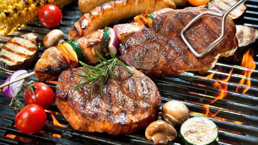mäso, grilovanie, rošt