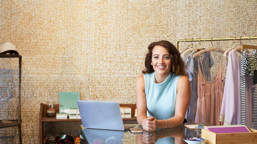 žena, úsmev, oblečenie, podnikanie